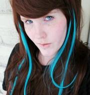 teal hair highlights