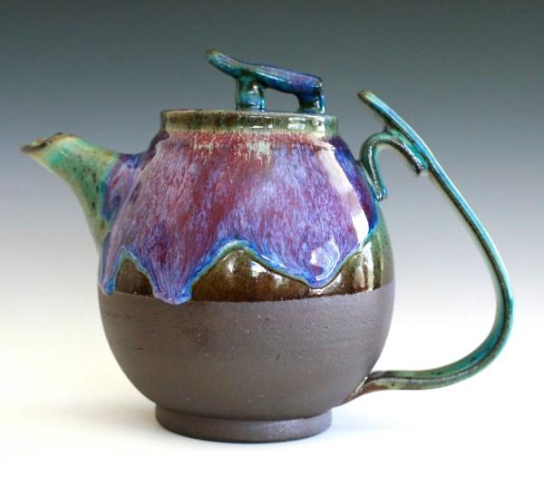Bloom Of Lilac Teapot Handmade Stoneware