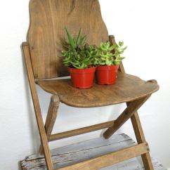 Antique Folding Chair Plus Size Dining Chairs Vintage Wooden