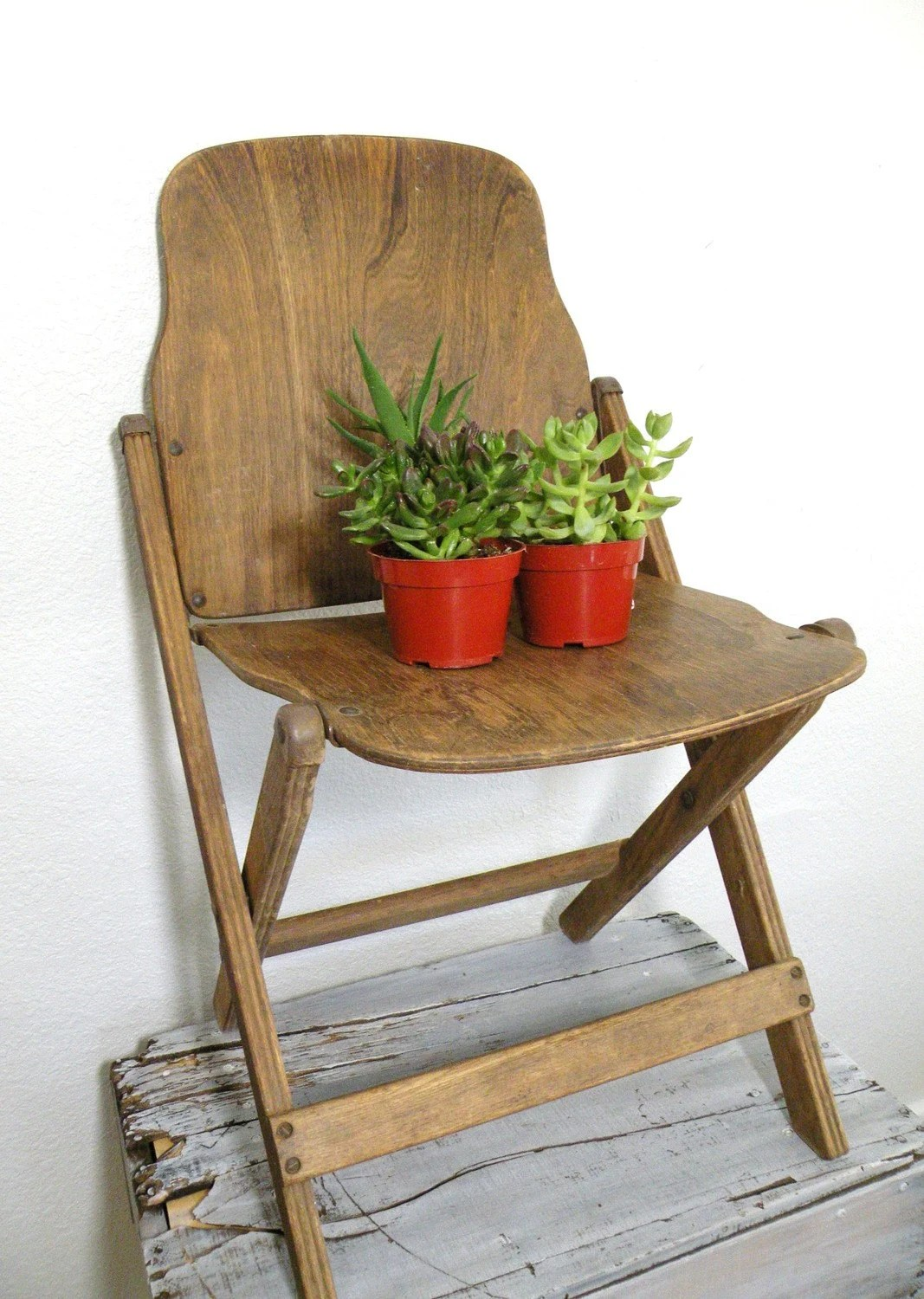 Antique Wooden Chair Vintage Antique Wooden Folding Chair