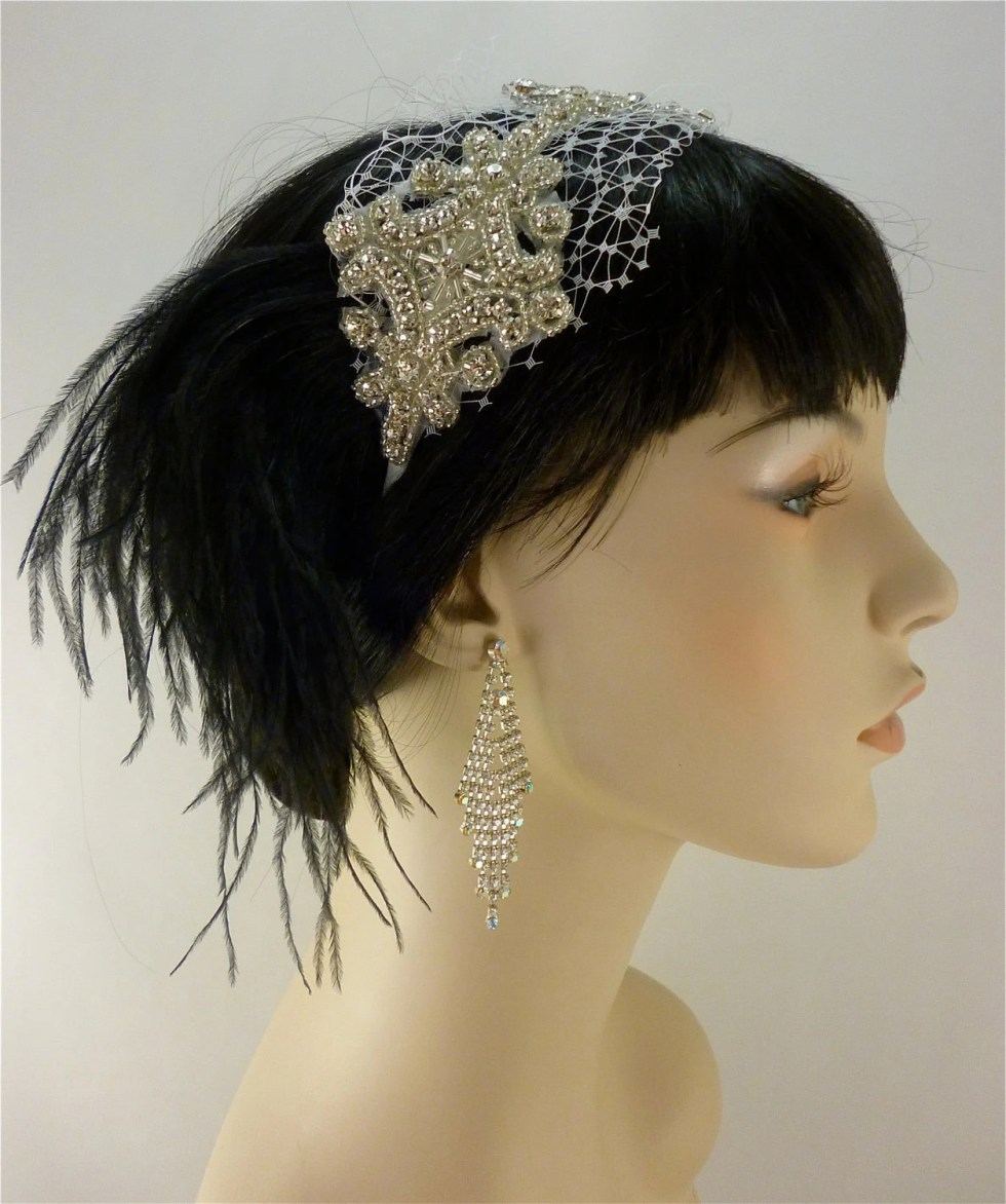 Wedding Headband, Bridal Hair Accessory, Rhinestone Silver Beaded Bridal Tiara, Rhinestone Headband, Black, White or Ivory, Hair Accessories