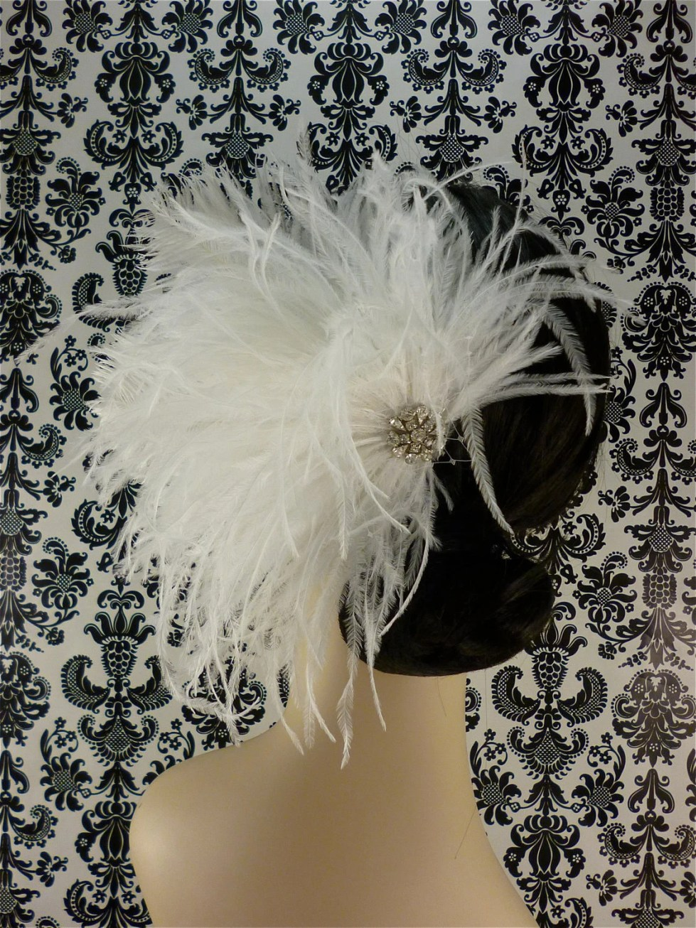 Bridal Feather Fascinator, Bridal Fascinator, Bridal Headpiece, Bridal Hair Accessories, Wedding Hair Accessories, Bridal Veil, Wedding Veil