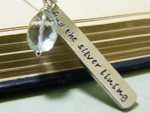 Find Silver Lining Hand Stamped Sterling Necklace
