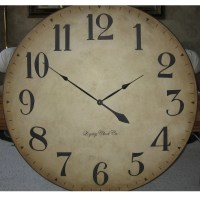 36 inch Large Wall Clock Tuscan Antique Style Arabic