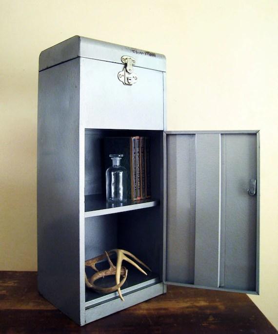 Vintage Industrial Metal File Cabinet by twentytimesi on Etsy