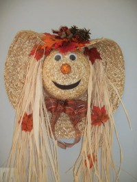 Scarecrow Hat Door Decoration by ritzywreaths on Etsy