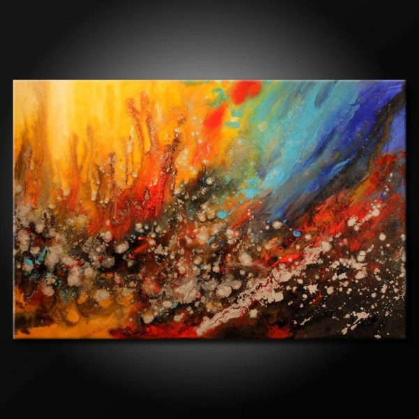 Modern Acrylic Abstract Painting Original Fine Art Colorful