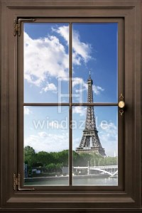 Items similar to Wall Decal, Faux Window Parisian View on Etsy
