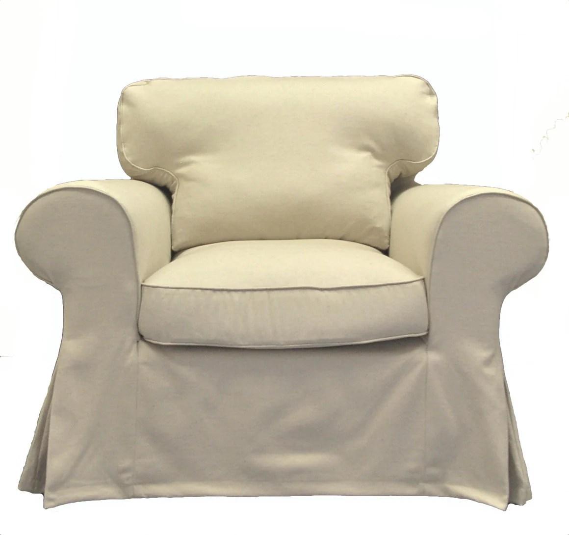 custom chair covers ikea professional barber chairs ektorp slipcover in oatmeal by freshknesting