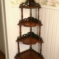 Corner Shelf For Living Room Accent Wall Colors Small Reserved Fancy Tall 4 Tier Victorian Standing