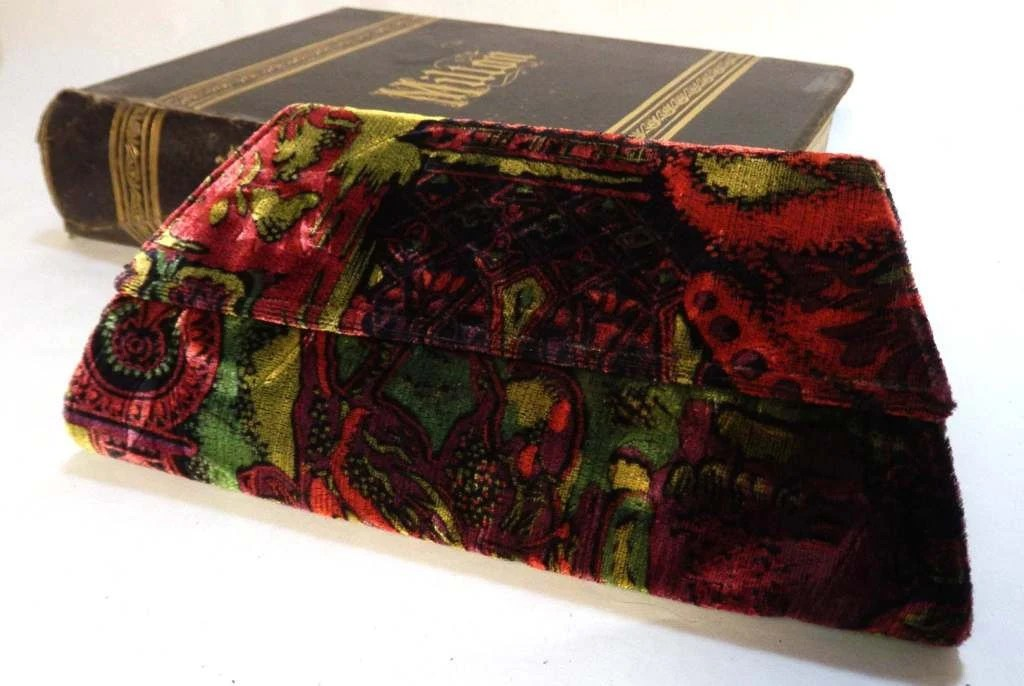 Velvet Passionate Print Evening Clutch TAGT TEAM tagt team - JeanineDesigns