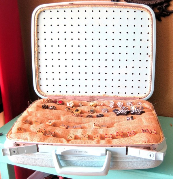 Upcycled Vintage Luggage Jewelry Display And Storage Shows
