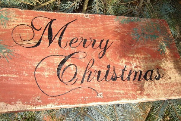 Rustic Woodland Country Merry Christmas Vintage Farm Red Barn