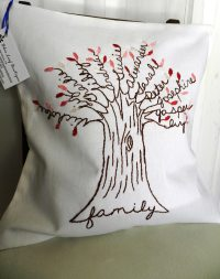 Personalized Family Tree Pillow Cover. Mother of the Bride.