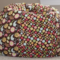 Meijer Bean Bag Chair Pottery Barn Oversized Brown Floral And Polka Dot Child Size Cover With