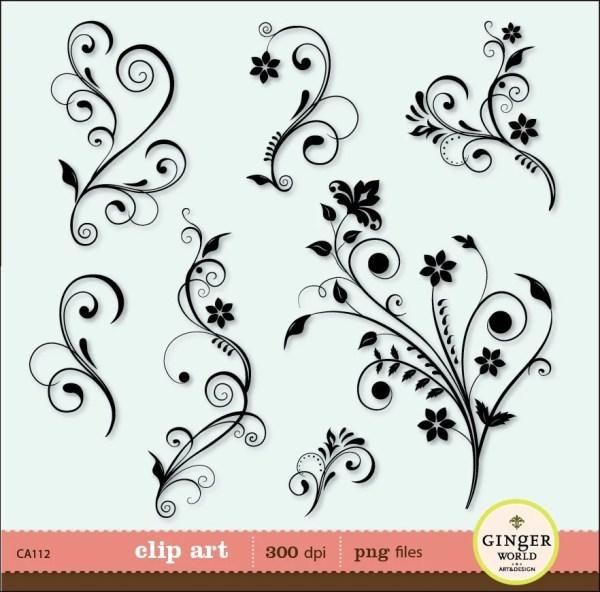 flower flourish swirl decorative