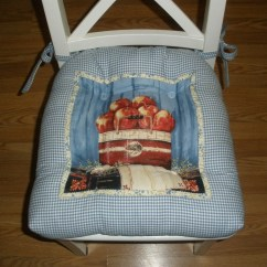 Country Chair Pads Accent Arm Chairs Under 200 Set Of 4 Apple Seat Cushions By