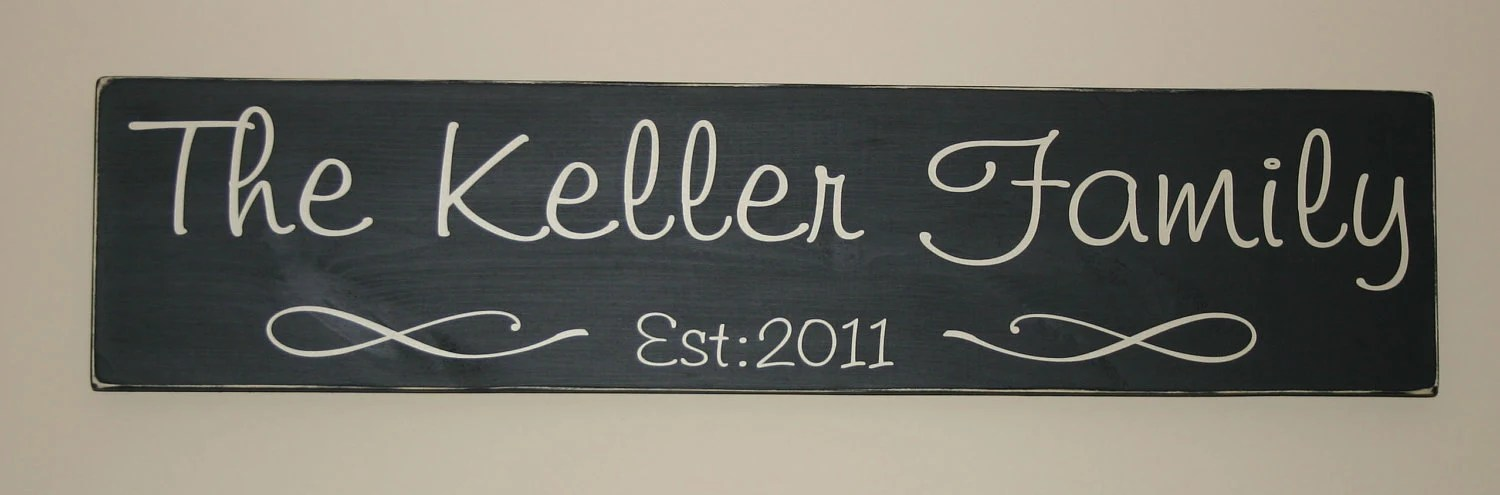 Family Established Wood Signs Etsy