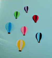 Hot Air Balloon 3D Paper Wall Art/Wall Decor