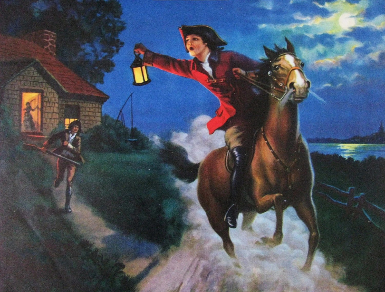 The Midnight Ride Of Paul Revere Eggleston Calendar Art Print