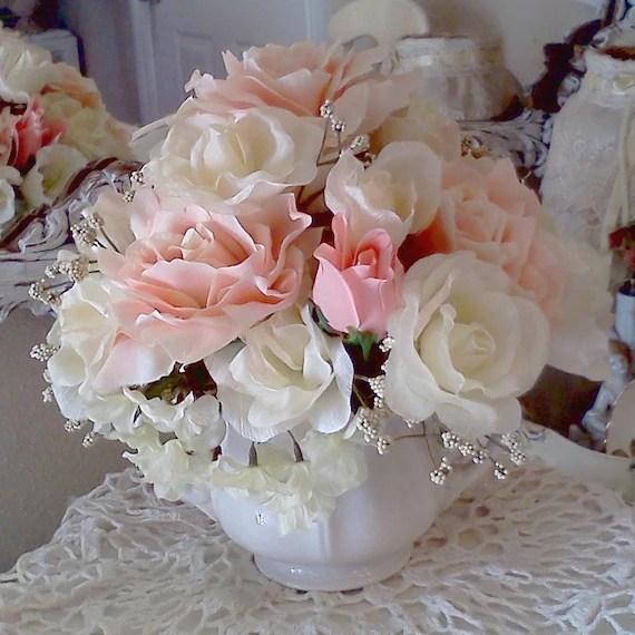 Marie Antoinette Shabby Chic Rose Flower Arrangement Ironstone