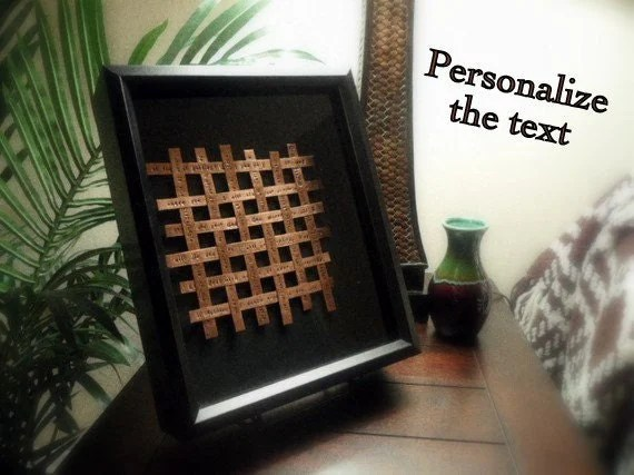 7 Year Wedding Anniversary Gift Woven Copper Art By