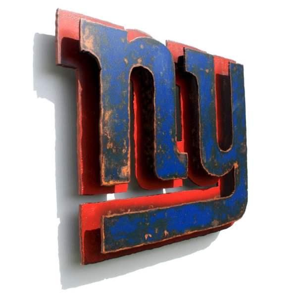 York Giants 3d Wall Art Metal Emblem Logo Nfl