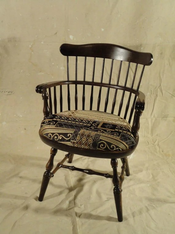 comb back windsor chair theater chairs with speakers items similar to antique comb-back captain's chair- experty refurbished regal ...