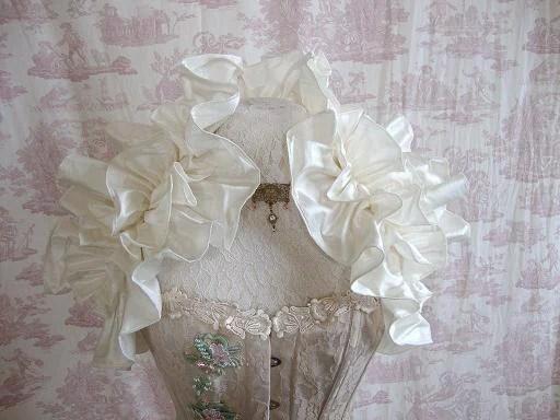 Dupioni Silk Wedding Shrug STEAMPUNK Burlesque Bridal By