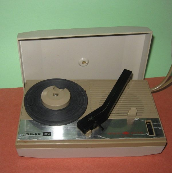 1960' Pocket-sized Portable Record Player Philco