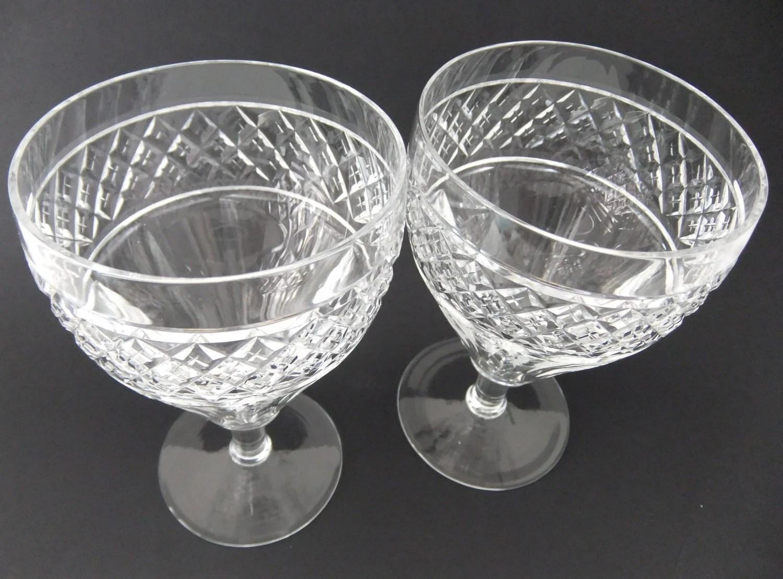 Downton Abbey Style Vintage Crystal Glasses Vintage Wine