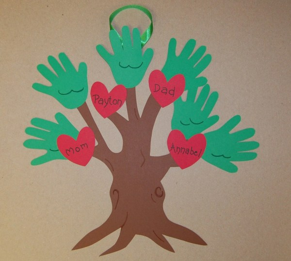 Handprint Family Tree Keepsake Craft Kit