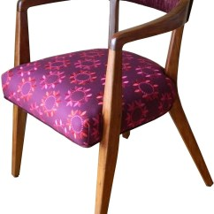 Red Velvet Office Chair Big Man Covers Sale Mid Century Side Chairs Pair In Wine And