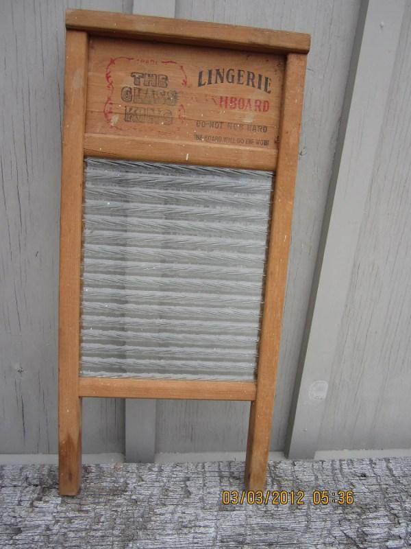 Vintage Antique Lingerie Washboard Laundry Room
