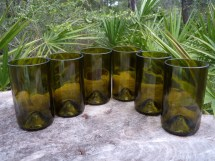 Recycled Eco Friendly Wone Bottle Tumblers Glasses