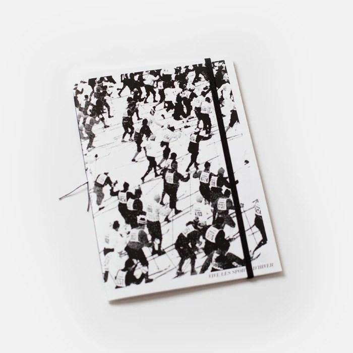 Bon Matin Blank Book - Vive les sports d hiver - black - BonMatinProducts