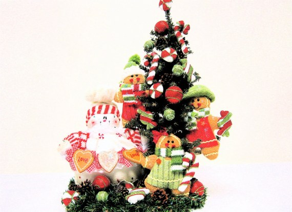 Christmas Arrangement Snowman and Gingerbread Centerpiece Red Lime Green White 24Hx15Wx8D - SandyNewhartDesigns