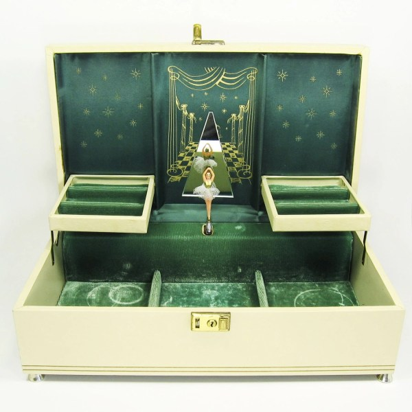 Vintage Ballerina Jewelry Box with Music
