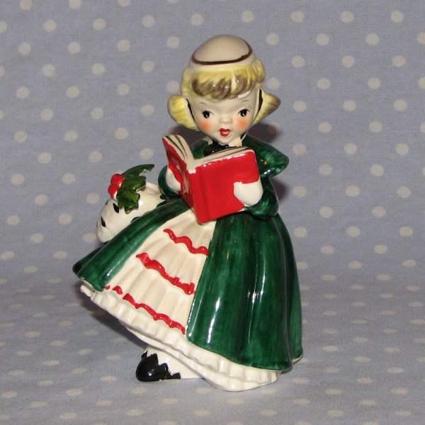 Vintage Christmas Napco Girl Figurine
