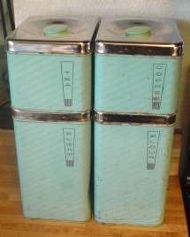 Teal Lincoln Beautyware Canister Set With Bonus Cookie