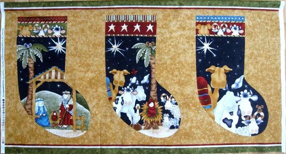Christmas Stocking Tapestry Fabric