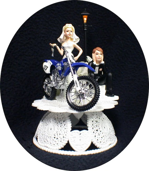 Dirt Bike Wedding Cake Topper