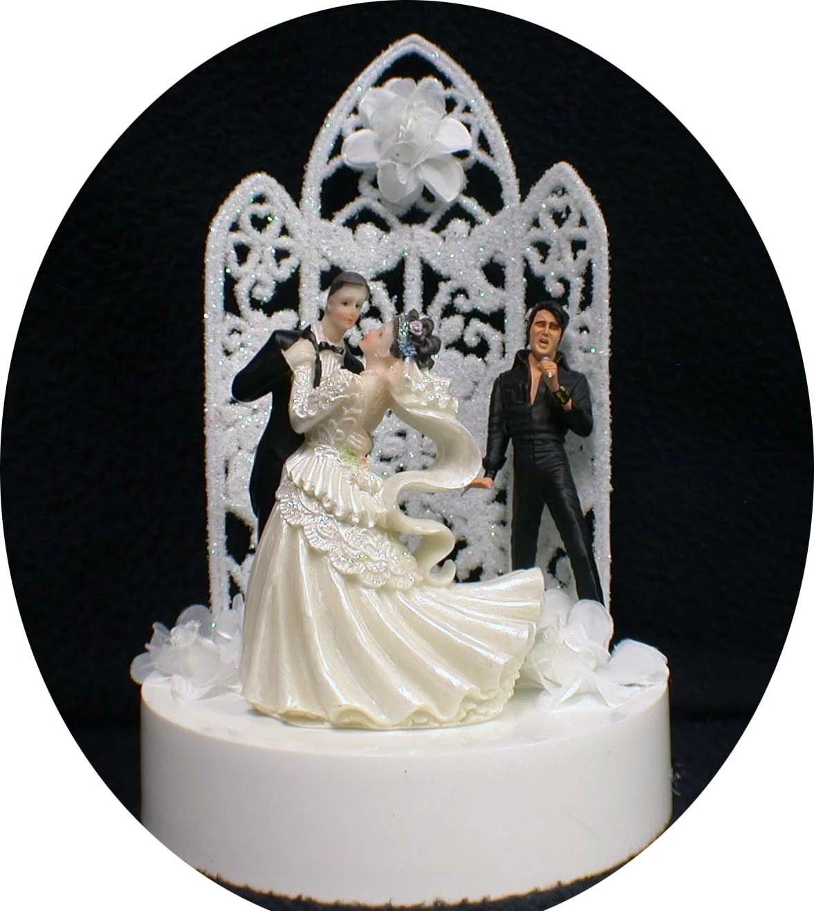 Elvis Presley King Las Vegas Wedding Cake Topper Grooms Cake