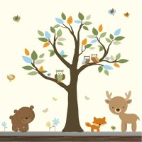 Stickers Vinyl Wall Decal Forest Set Nursery