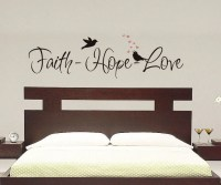 Faith Hope Love Wall Decal Vinyl Decal by VillageVinePress