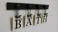 BATH Sign Personalized Handmade Hanging Letters Set Includes
