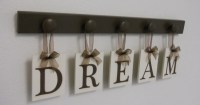 DREAM Sign Wall Decor Hanging Wall Letter Sign with 5 Wooden