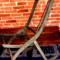 Vintage solid wood folding rocking chair frame by swagjuice