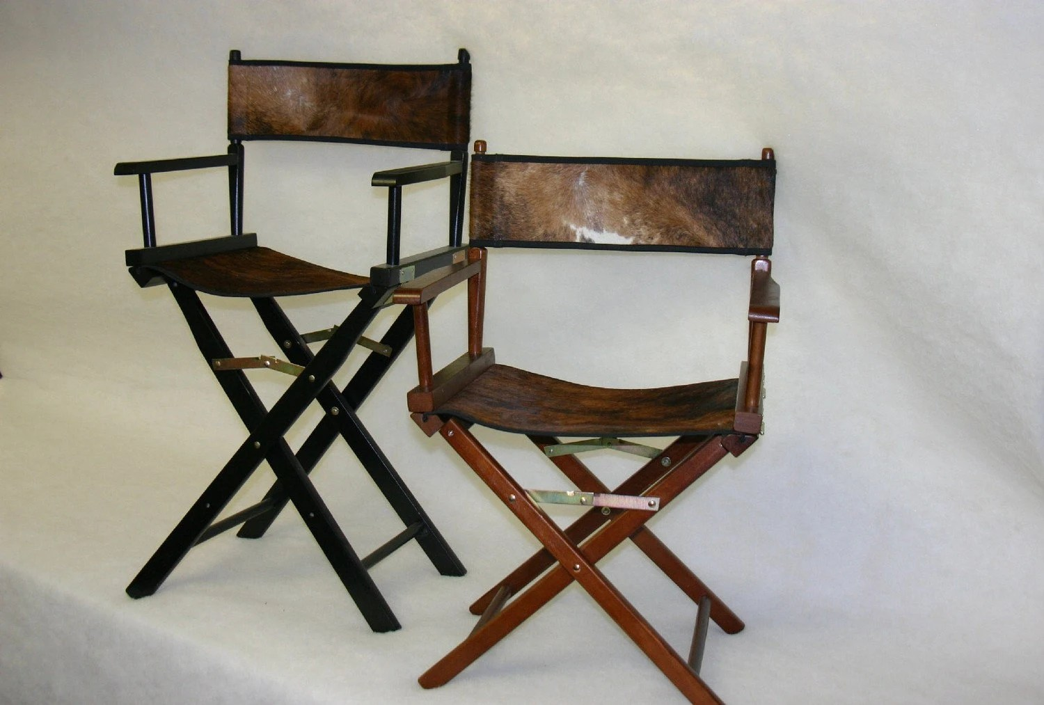 Directors Chairs 18 Inch Custom Cowhide Directors Chairs