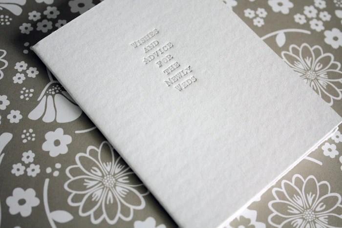 Wishes and Advice for the Newlyweds Guest book by blushandbeau